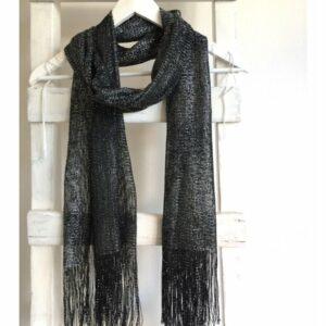 Glitter shawl, zwart zilver