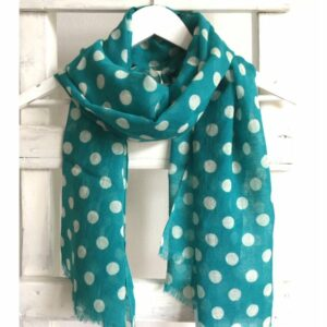 Stippen shawl, turquoise