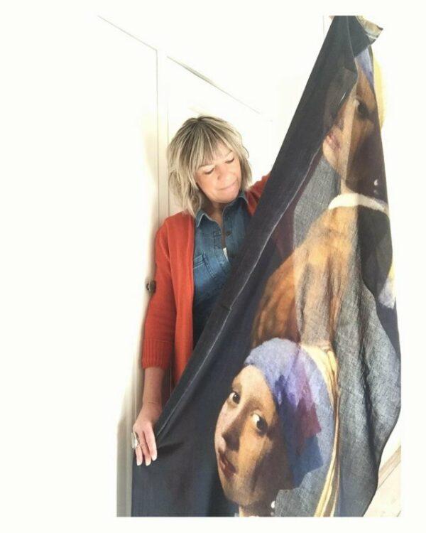 Otracosa schilderij shawl, 'meisje met de parel'