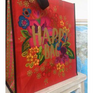Tas 'Happy Bag', rood recycled
