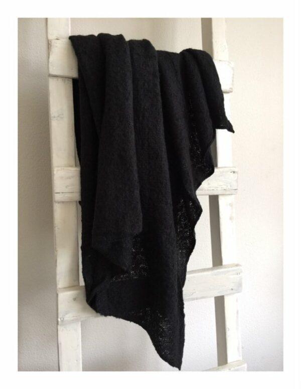 warme shawl zwart