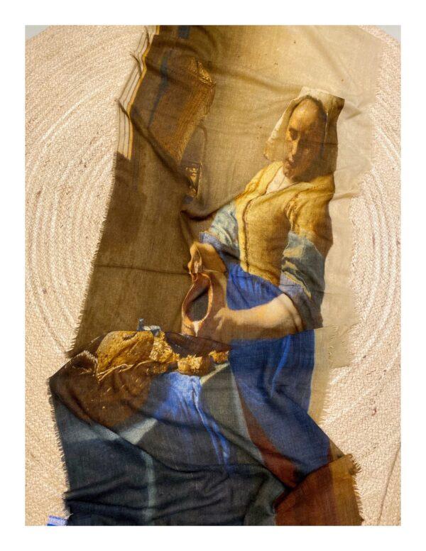 Vermeer melkmeisje shawl