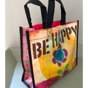 Gerecyclede tas be happy