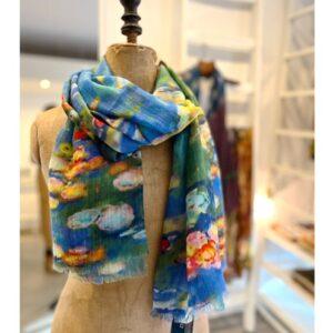 Pareo shawl, geel van zachte katoen
