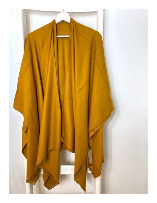 Stola | cape oker geel