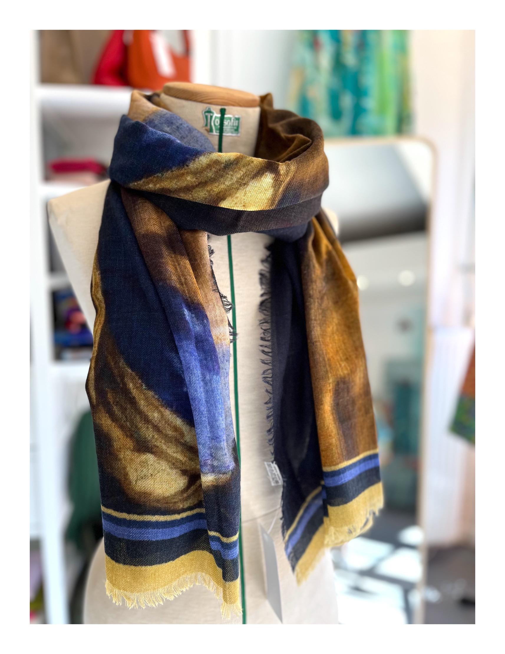Stola shawl, portret vrouw