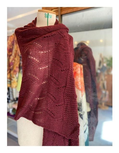 Summer style shawl, flamingo mix