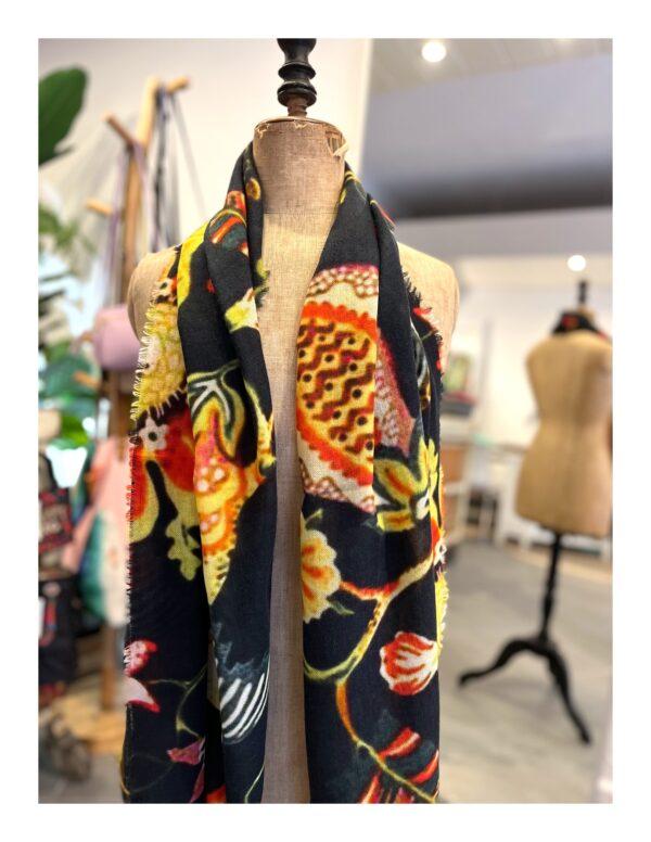 Boho Bandeau | haarband, kleurrijk met bloemen