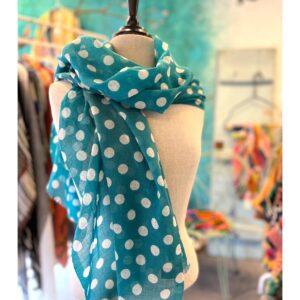 Bloem broche, turquoise