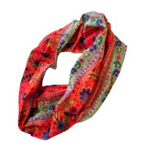Boho Bandeau blauw en rood