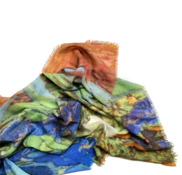 art shawl, van Gogh irissen