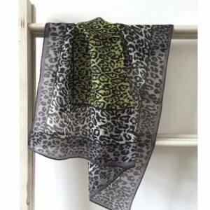 zijden bandana, leopard