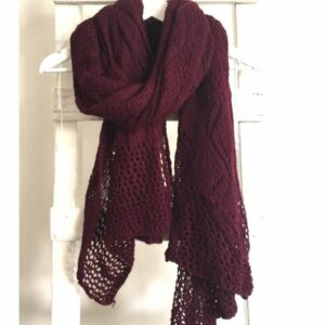 gebreide basic shawl, bordeaux