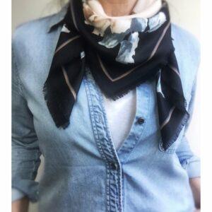 rozen shawl, blauw