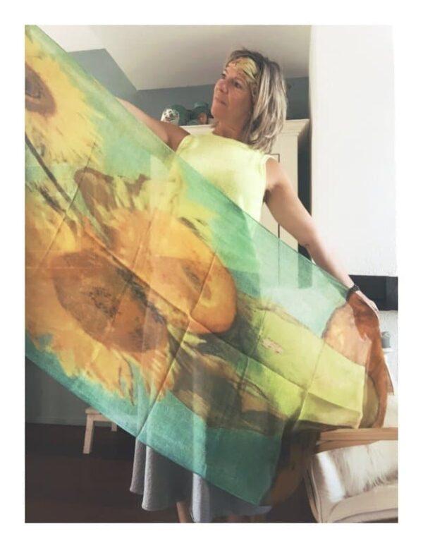 Otracosa shawl, van Gogh zonnebloemen
