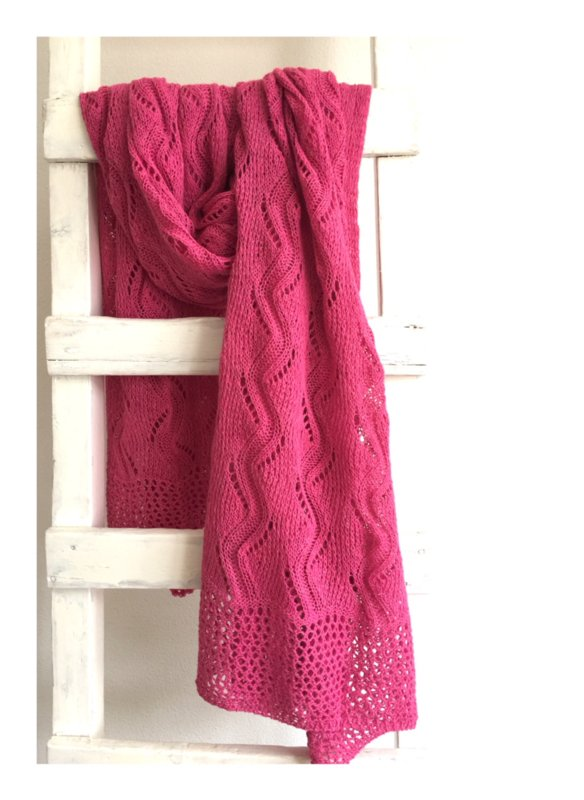 gebreide Lovely Scarfs shawl roze