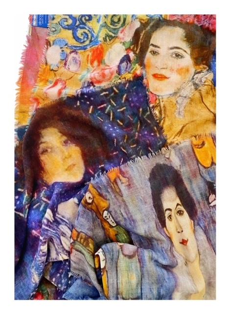 schilderij sjaal klimt