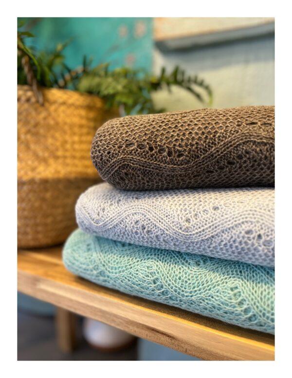 Otracosa bloemen shawl, zee groen