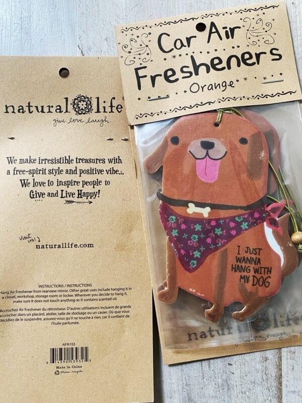 air freshener, dog
