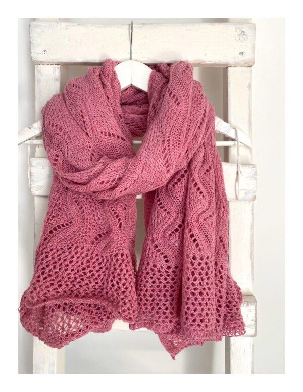 gebreide lovely scarfs shawl, pink