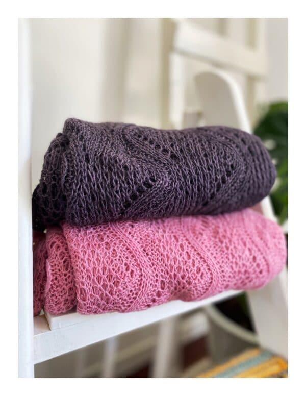 basic uni shawl, gebreid