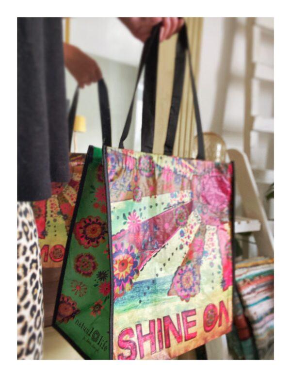 Kleurrijke tas, recycled