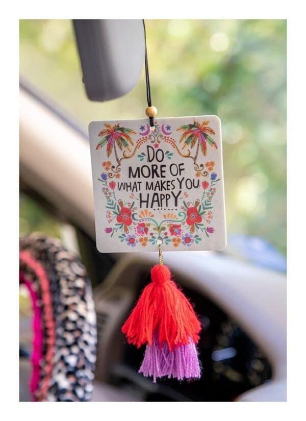 Air freshener, met happy quote