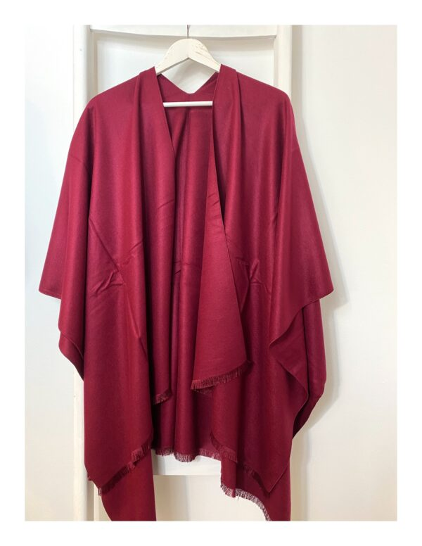 Stola   cape bordeaux rood