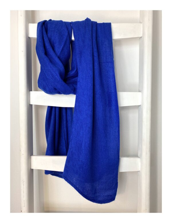 Lovely Scarfs basic shawl, kobalt blauw