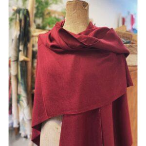 Stola | cape bordeaux rood