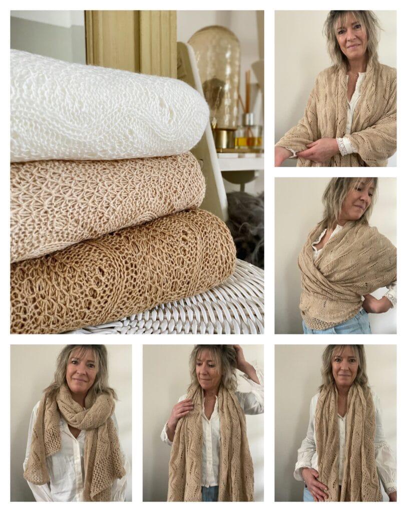 ajour gebreide basic shawl