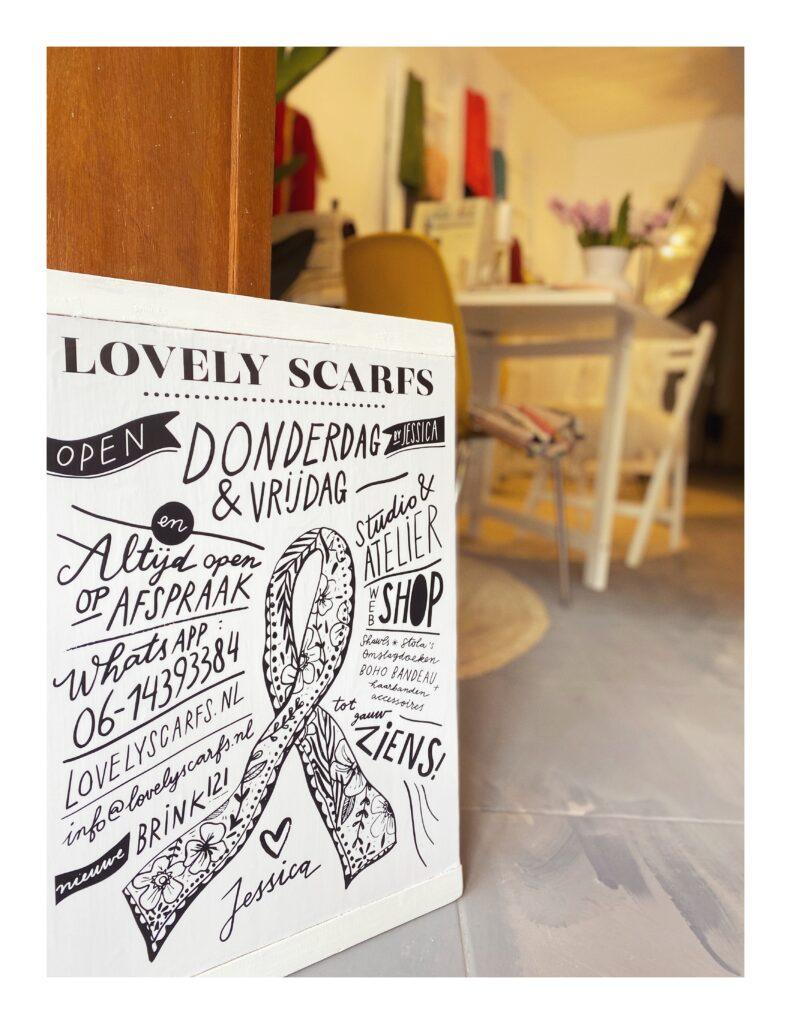 Lovely Scarfs studio winkel