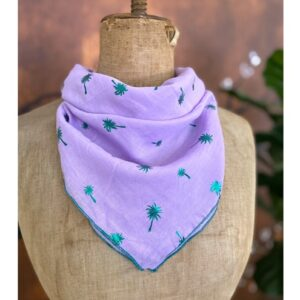 Zomer shawl, lila en palmbomen