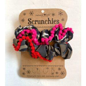 PomPon scrunchies set, jungle love