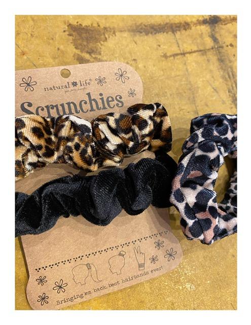 Natural Life scrunchies, dierenprint